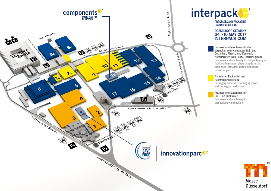 Interpack 2017 Hall Plan